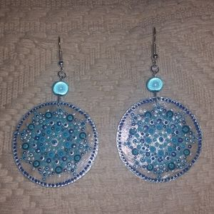 Hand painted shell earring
